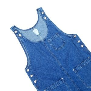 Vintage Street Blues Denim Jean Midi Dress